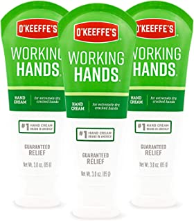 O'Keeffe's, Working Hands, Hand Cream, Unscented, 3 oz (85 g)(Pack of 3)