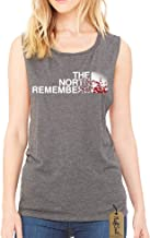 NuffSaid The North Remembers GOT Flowy Scoop Muscle Tank - Premium Quality Top