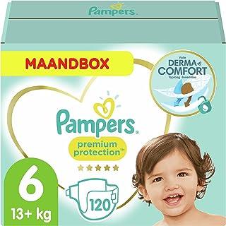 Pampers Maat 6 Premium Protection Luiers, 120 Stuks (13+ kg), MAANDBOX, onze Nummer 1 Luier voor Zachtheid en Bescherming ...