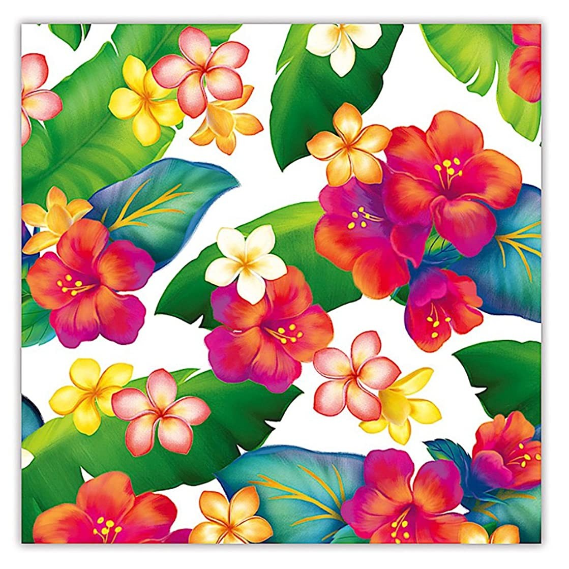 Island Blossoms Hawaiian Floral Gift Wrap Paper / 2 Rolls