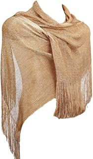1920s Gatsby Weddings Scarfs Fringe Sheer Party Evening Wraps Shawl for Dresses