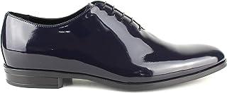 Zapatos de hombre de piel clásicos, artesanales Oxford de pintura azul
