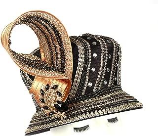 June's Young Womens Hat Ladies Hat Church Hat Satin Fabric Ribbon High Fashion (Brown Black)