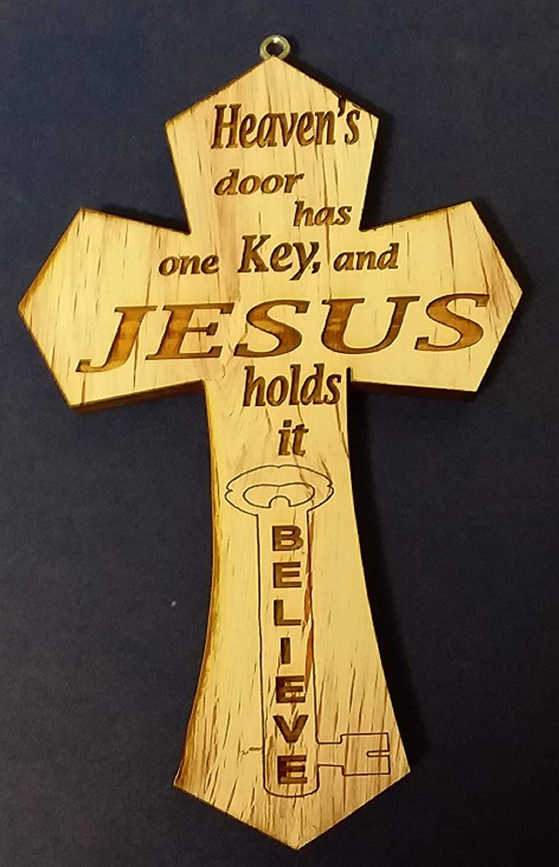 Albuquerque Mall small cross mini crackle handmade New mail order Heavens door wooden