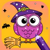 Glittery Coloring Halloween for Kids