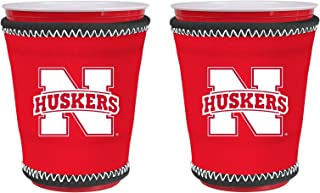 NCAA College Team Logo New Drink Glass Cup Insulated Kup Holder 2-Pack