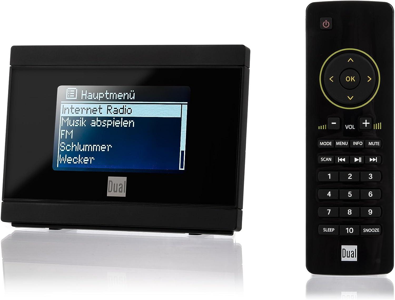 Dual Ir 2a Internetradio Adapter Für Stereoanlage Wifi Ukw Upnp 3 5 Mm Klinke Mit Uhr Alarmfunktion Inkl Fernbedienung Schwarz Heimkino Tv Video
