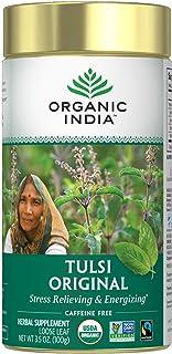 Organic India, Tulsi Loose Leaf Tea, Holy Basil, Original, Caffeine Free, 3.5 oz (100 g)