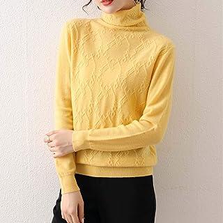Suéter De Cuello Alto para Mujer Jersey De Cuello Redondo Camisa De Calidez/Elasticidad Fuerte Suéter De Lana Suave Y Cómo...