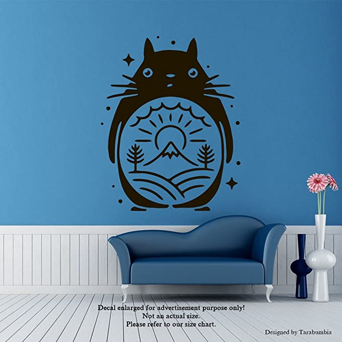 Amazon.com: Manga Anime Wall Decals My Neighbor Totoro Stickers Decorative Design Ideas For Your Home or Office Walls Removable Vinyl Murals EC-1087 : Tools & Home Improvement