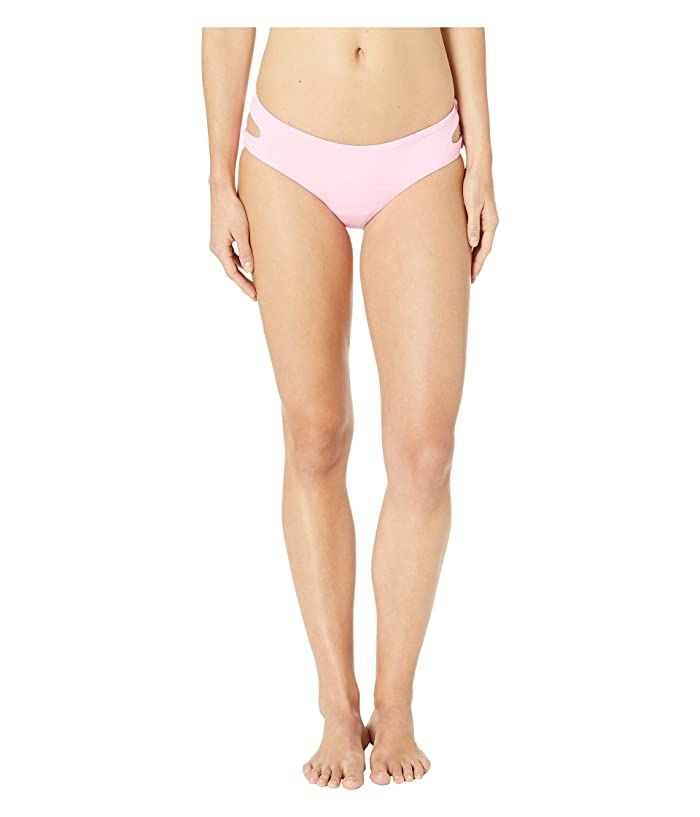 THE BIKINI LAB Solids Cut Out Hipster (Pink) Women
