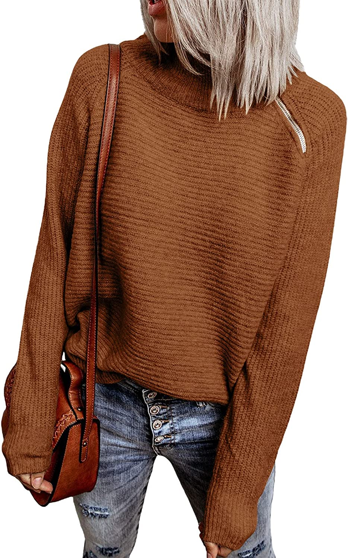 HOTAPEI Women's Fall Winter Popular popular 1 4 Zipper Turtleneck 35% OFF Long S Sweater