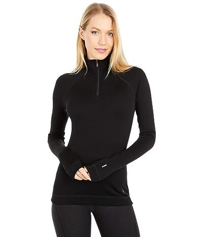 Smartwool Merino 250 Base Layer 1/4 Zip (Black) Women