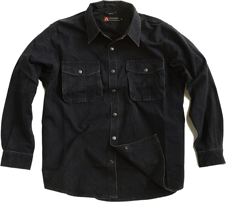 Kakadu McLeod - Camisa para hombre de lona resistente