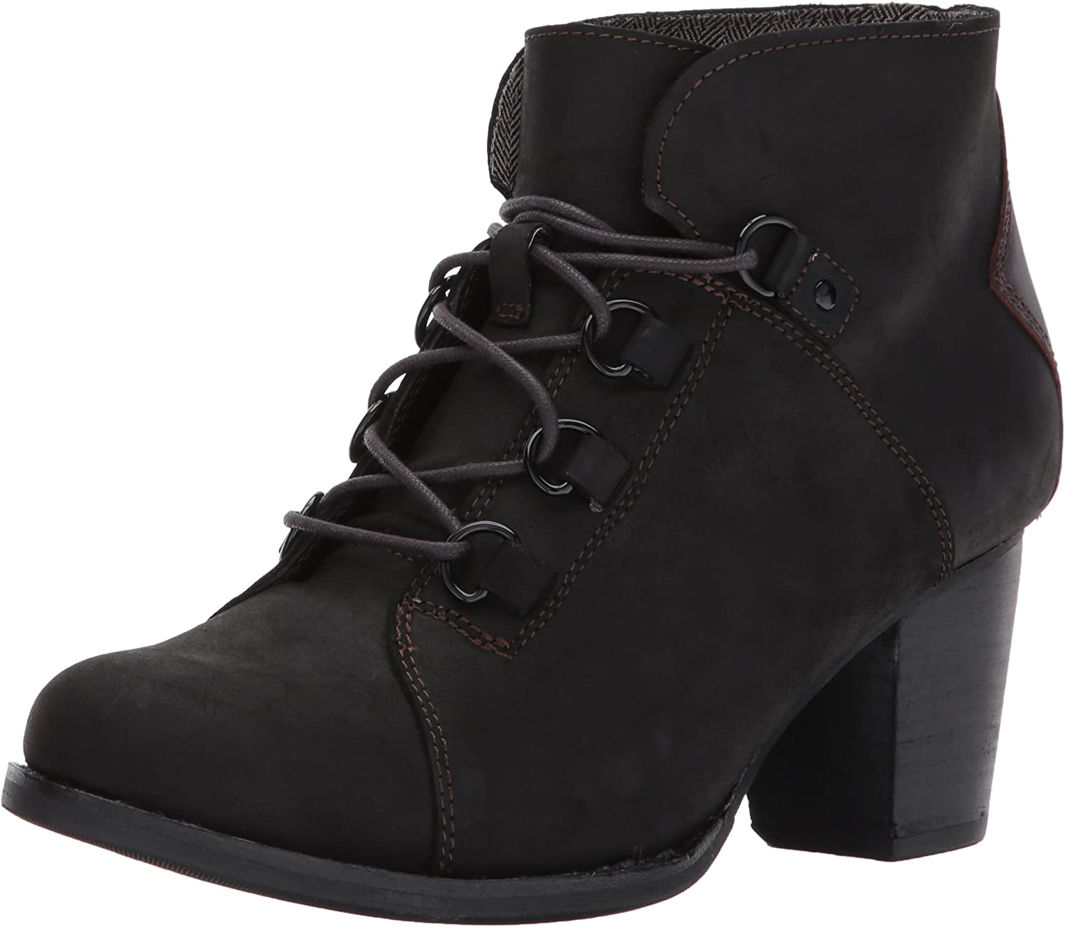 Caterpillar Women's Arbor Waterproof Lace up Bootie with Stacked Heel Ankle Boot