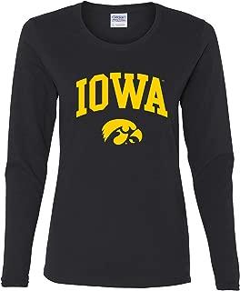 NCAA Arch Logo, Team Color Womens Long Sleeve T Shirt, College, University