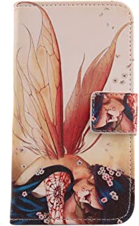 """Lankashi Pattern PU Leather Wallet Flip Cover Skin Protection Case for Easyfone Prime A5 1.8"""" (Wing Girl Design)"""
