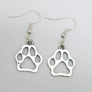 Boucles doreilles /à tige en forme de patte de chien en argent sterling 925 et zircone cubique Cadeau pour les oreilles sensibles