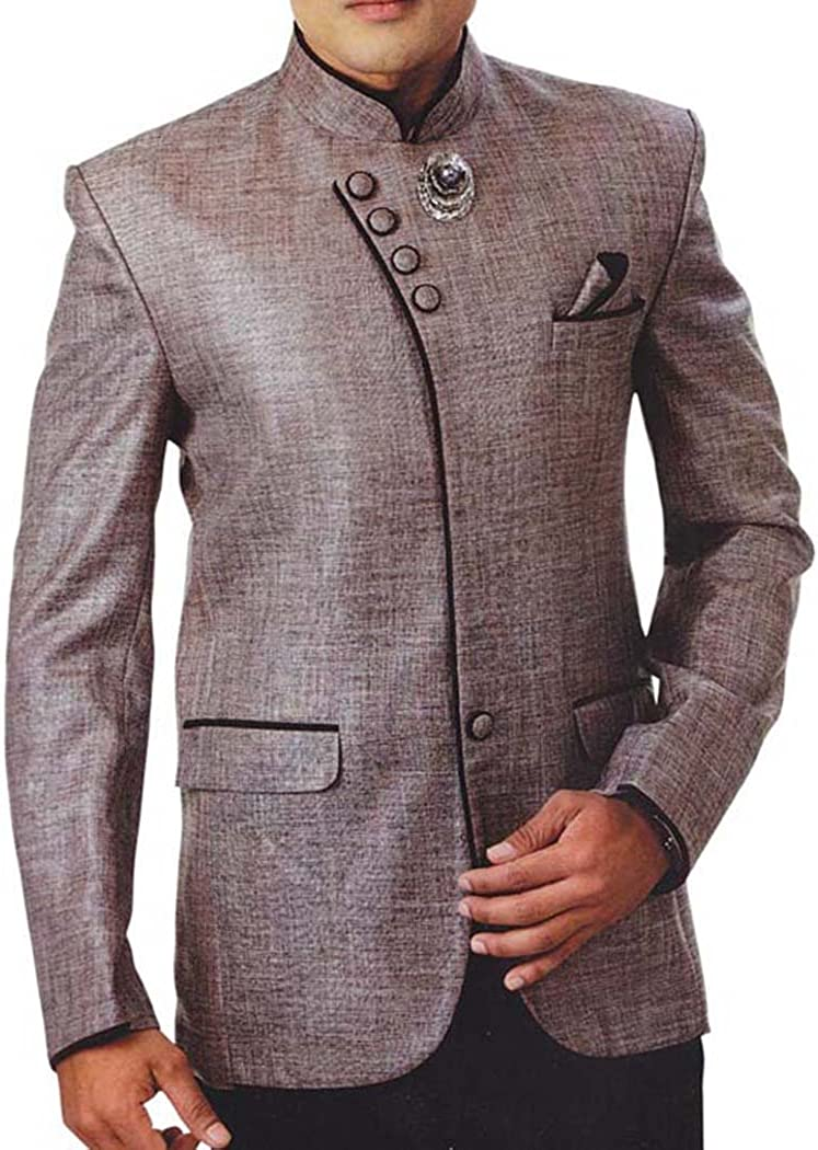 INMONARCH Mens Bronze 4 Pc Tuxedo Suit Angrakha Style TX947