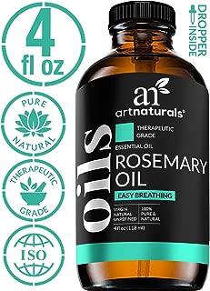 ArtNaturals 100% Pure Rosemary Essential Oil - (4 Fl Oz / 120ml) - Undiluted Therapeutic Grade - Focus Think and Breathe