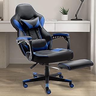 LEOVOL ゲームチェア ゲーミングチェア レーシングチェア pcチェア パソコンチェア デスクチェア ゲーム用チェア オフィスチェア pc チェア パソコン 椅子 多機能 いす リクライニング 疲れない椅子 おしゃれ ゲーム用 ゲーミング ...