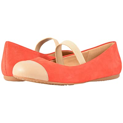 SoftWalk Napa MJ (Red/Nude Soft Leather/Smooth PU) Women