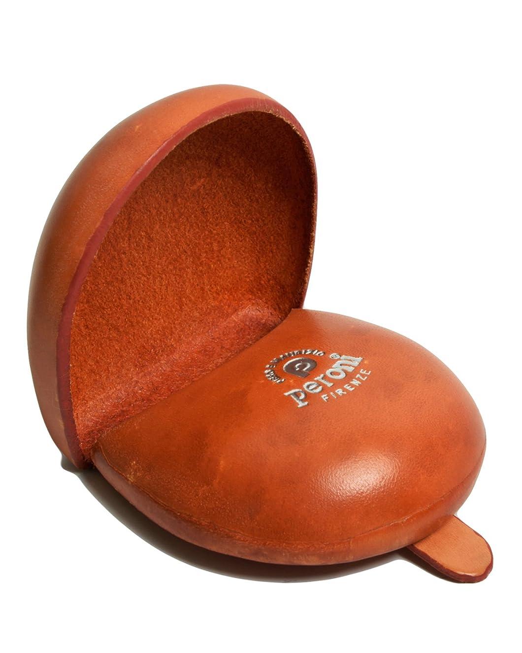 喉が渇いたスカウト権限を与えるPERONI ペローニ コインケース 小銭入れ ハンドメイドArt594 シルバーロゴ silver logo BRIAR ORANGE ブライヤー オレンジ