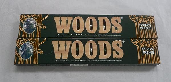 Woods Natural Incense Sticks 2 X 14 Gram Boxes 28 Grams Total IN198