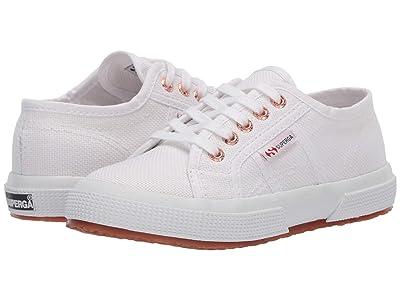 Superga Kids 2750 JCOT Classic (Toddler/Little Kid) (White/Rose) Girls Shoes