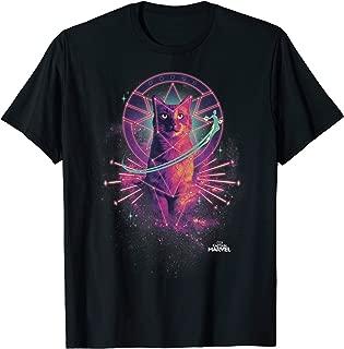 Captain Marvel Movie Goose Galaxy Portrait Graphic T-Shirt T-Shirt