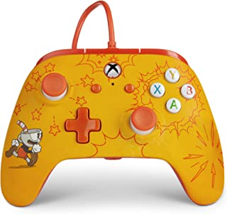 Best PowerA Enhanced Wired Controller for Xbox One - Cuphead, gamepad, wired video game controller, gaming controller, Xbox One, works with Xbox Series X S - Xbox One Review