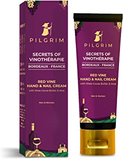 Pilgrim Red Vine Hand And Nail Cream with Cocoa & Shea Butter for Rough Hands, Dry Skin, Brittle Nails, Men And Women, Gir...