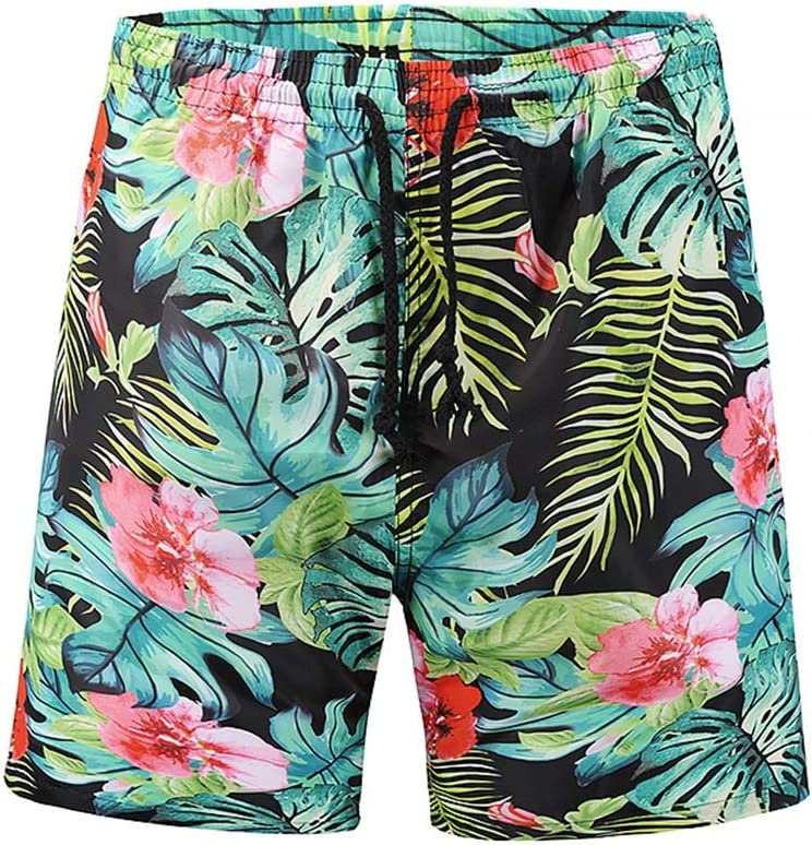 DFYYQ Beach Super special price Shorts Men's Very popular Quick-Drying 3D Print Pants Swimm Plant