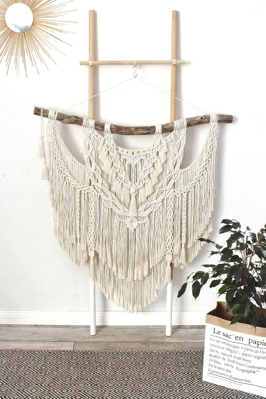 Handmade Bohemian OFFer Wall Low price Hanging Macrame with Large Tassels: