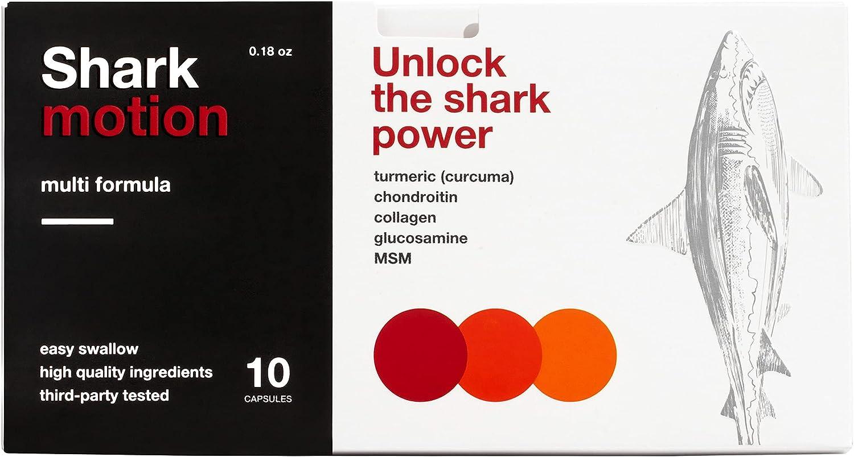 Shark Max 86% OFF Motion Glucosamine New Orleans Mall Chondroitin MSM Jo Natural Capsules