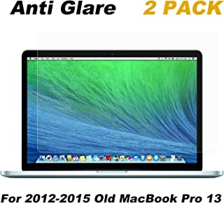 2 Pack Anti Glare Screen Protector CompatibleMacBook Pro 13 Inch Mid 2012-2015 (A1425/A1502)