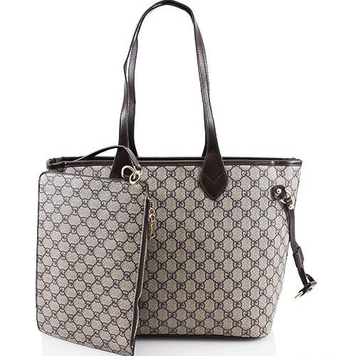c468d460455 Designer 2-in-1 Check Handbag Shoulder Bag With Purse + Lip Balm