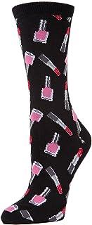 MeMoi Lipstick Bamboo Novelty Crew Socks   Fun Socks
