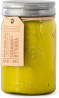 Paddywax Candles Relish Collection Scented Candle, 9.5-Ounce, Vanilla + Oakmoss