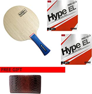 Sanwei M8 Plus Carbon with GEWO Hype EL 42.5, 5 Stars Ping Pong Paddle