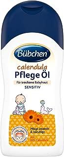 Bübchen Calendula Baby Oil for Dry and Sensitive Baby Skin Care & Massage Oil with Organic Calendula of 200 ml
