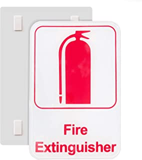 Canailles Fire Extinguisher Sign Featuring Fire Extinguisher Text and Extinguisher Logo, Self-Adhesive Application Made wi...