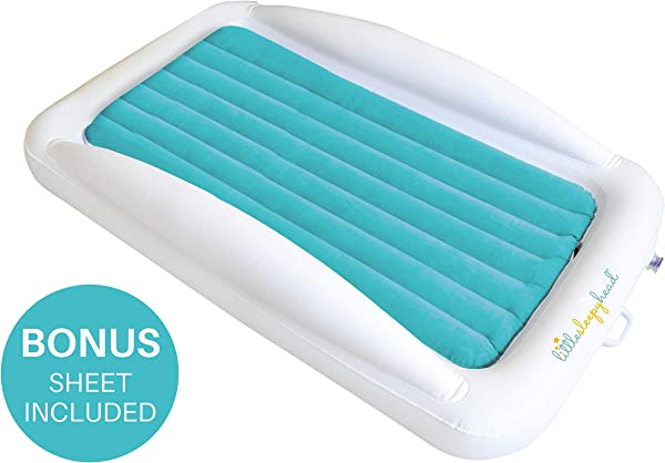 Little Sleepy Head Toddler Inflatable Bed Perfect Kids Travel Bed Toddler Cot For School Kids Camping Or Floor Bed With Bed Rails