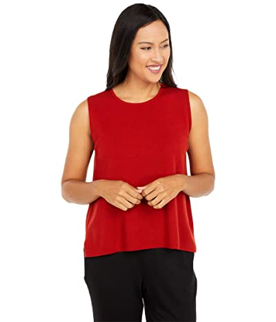 Eileen Fisher Crew Neck Shell (Tiger Lily) Women