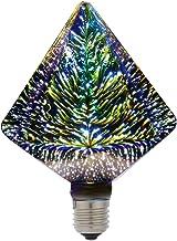 Gecheer 6W E27 LED 3D Light Bulb Creative Colorful Decorative Lamp G125 Filament Fireworks Diamond Light for Home Bar Cafe...