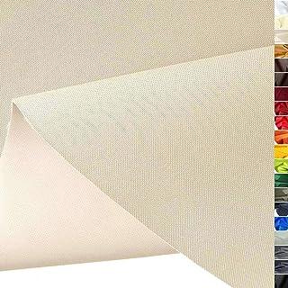 TOLKO wasserfest beschichteter Nylon Stoff | fester Segeltuch Planenstoff als Nylonplane für Aussenbereich | Reißfest und Langlebig | Meterware 150cm breit schwerer Outdoorstoff Beige
