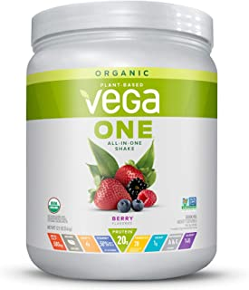 Vega One Organic Meal Replacement Plant Based Protein Powder, Berry - Vegan, Vegetarian, Gluten Free, Dairy Free with Vita...