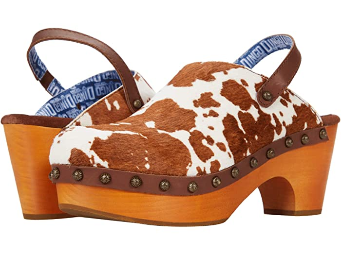 Dingo Buttercup Clogs in Brown Cow