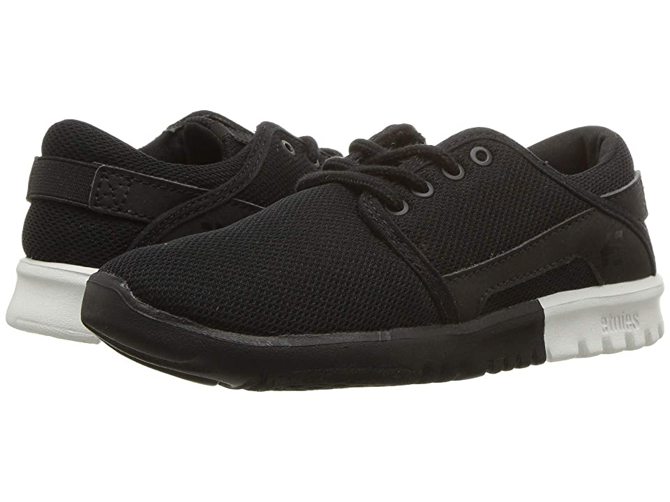 etnies Kids Scout (Toddler/Little Kid/Big Kid) (Black/White) Boys Shoes