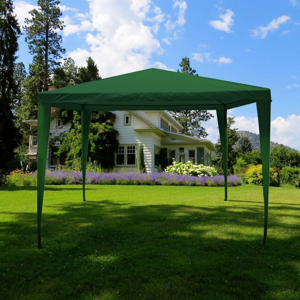Home Discount Carpa de 3 x 3 m, toldo para Fiestas al Aire Libre, Impermeable, Color Verde: Amazon.es: Hogar